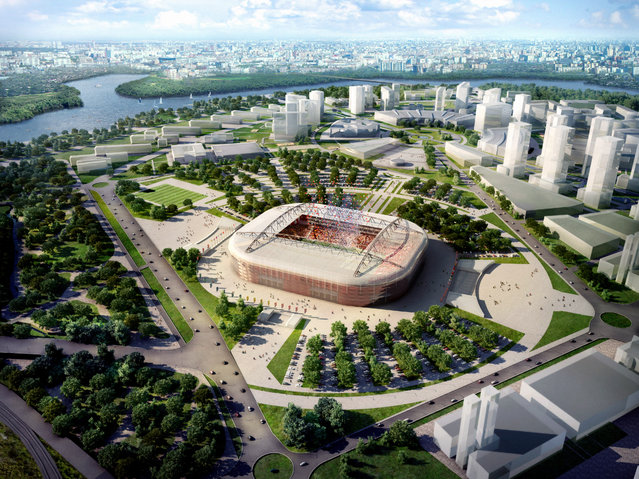 In this handout artists impression provided by the Russia 2018 Organising Commitee, the Spartak Stadium in Moscow is shown as proposed and presented as part of the Russia 2018 World Cup bid, on September 29, 2011 in Russia. (Illustration by Russia 2018 via Getty Images)