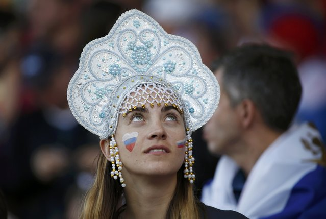 Football Soccer, Russia vs Wales, EURO 2016, Group B, Stadium de Toulouse, Toulouse, France on June 20, 2016. A Russian fan looks on before the match. (Photo by Sergio Perez/Reuters)