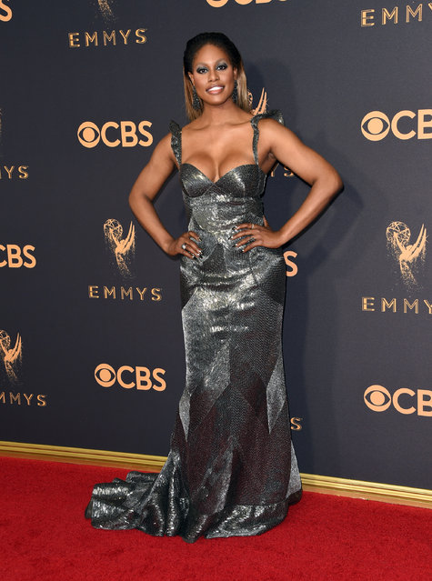Actor Laverne Cox attends the 69th Annual Primetime Emmy Awards at Microsoft Theater on September 17, 2017 in Los Angeles, California. (Photo by J. Merritt/Getty Images)