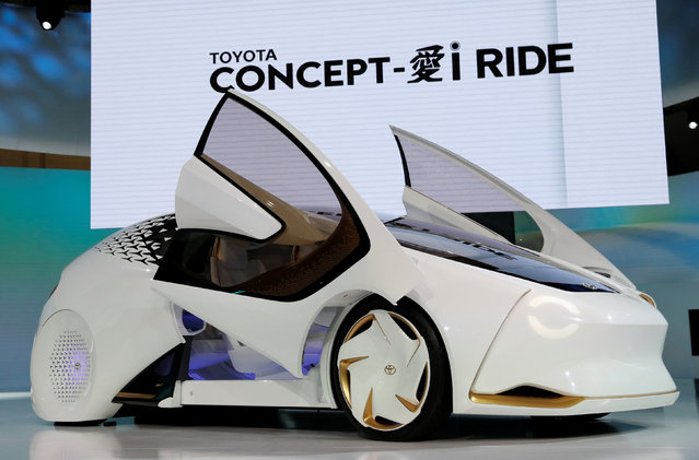Toyota Motor Corp. displays the company's Concept-i Ride during media preview of the 45th Tokyo Motor Show in Tokyo, Japan on October 25, 2017. (Photo by Kim Kyung-Hoon/Reuters)