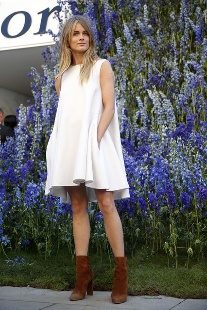 Cressida Bonas poses before attending the Spring/Summer 2016 women's ready-to-wear collection show for Dior fashion house during the Fashion Week in Paris, France, October 2, 2015. (Photo by Charles Platiau/Reuters)