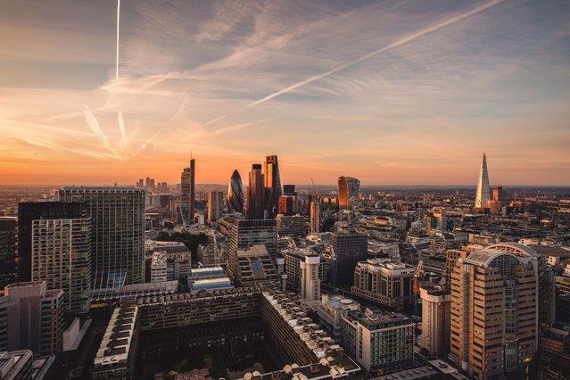 London skyline. (Photo by Jacob Riglin/Caters News)