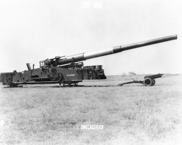280 mm AFAP cannon. (Photo by Los Alamos National Laboratory/US Army)