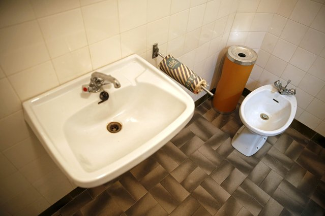 Josip Broz Tito's private toilet is seen in his underground secret bunker (ARK) in Konjic, October 16, 2014. (Photo by Dado Ruvic/Reuters)