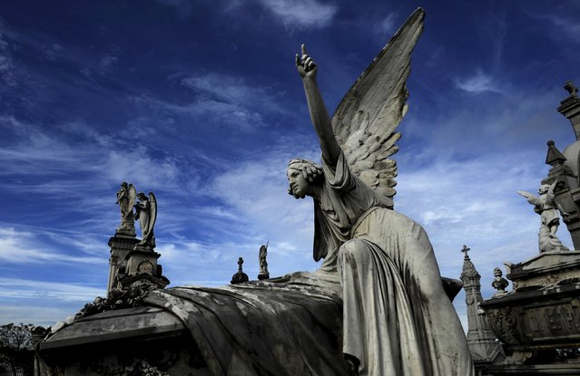 Picture of the pantheon of the Marquesa de San Juan de Nieva, chosen as the best tomb sculpture of Spain in a Spanish magazine this week, in the municipal cemetery of La Carriona in Aviles, northern Spain, October 29, 2015. (Photo by Eloy Alonso/Reuters)