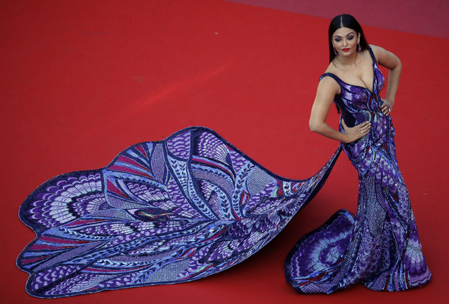 """Actress Aishwarya Rai Bachchan poses for photographers upon arrival at the premiere of the film """"Girls of The Sun"""" at the 71st international film festival, Cannes, southern France, Saturday, May 12, 2018. (Photo by Stephane Mahe/Reuters)"""