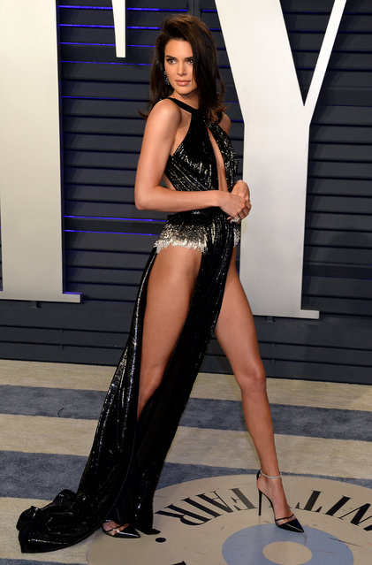 Kendall Jenner attends the 2019 Vanity Fair Oscar Party hosted by Radhika Jones at Wallis Annenberg Center for the Performing Arts on February 24, 2019 in Beverly Hills, California. (Photo by 2019 Broadimage Newswire)
