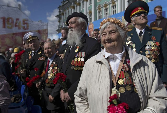 World War Two veterans take part in the Victory Day celebrations in St.Petersburg, Russia, May 9, 2015. (Photo by Reuters/Host Photo Agency/RIA Novosti)