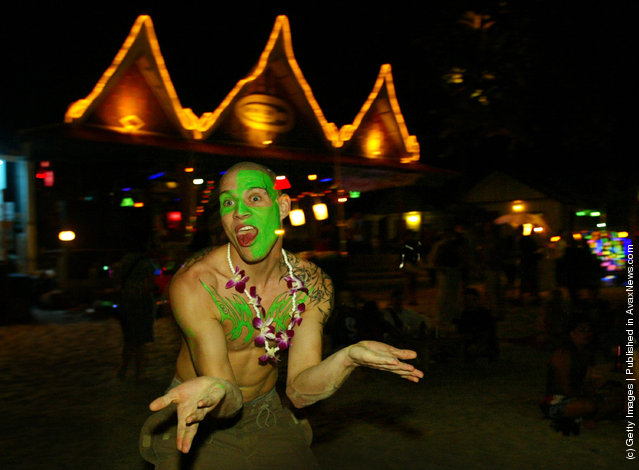 Koh Phangan, Thailand at the monthly Full Moon party