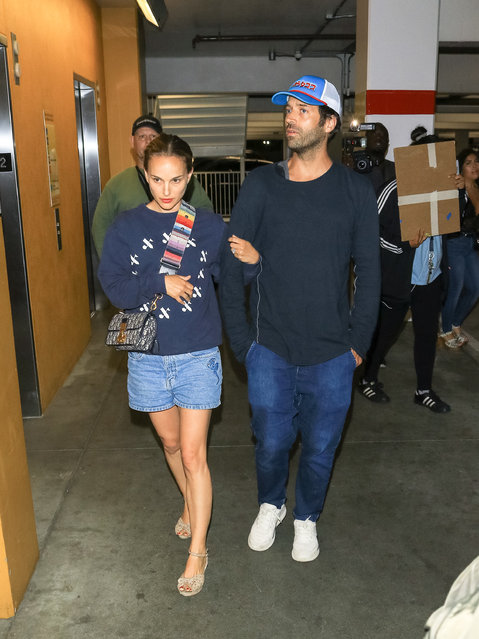 Natalie Portman and Benjamin Millepied are seen on July 31, 2019 in Los Angeles, California. (Photo by gotpap/Bauer-Griffin/GC Images)