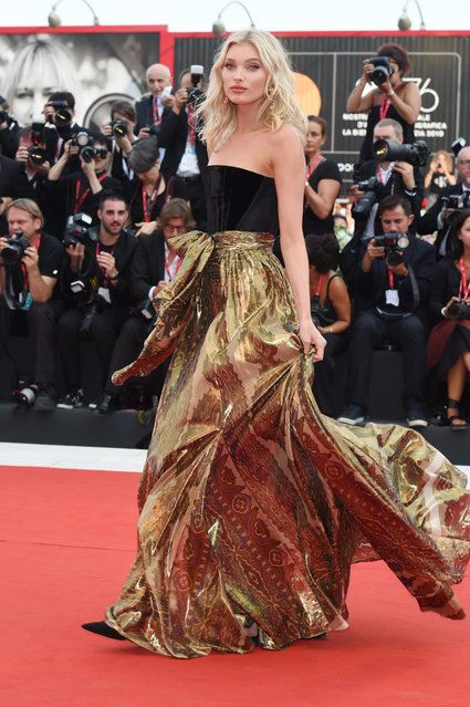 "Elsa Hosk walks the red carpet ahead of the ""Marriage Story"" screening during the 76th Venice Film Festival at Sala Grande on August 29, 2019 in Venice, Italy. (Photo by Stefania D'Alessandro/WireImage)"