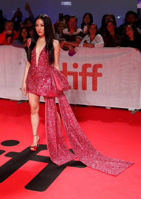 """Constance Wu attends the """"Hustlers"""" premiere during the 2019 Toronto International Film Festival at Roy Thomson Hall on September 07, 2019 in Toronto, Canada. (Photo by Mario Anzuoni/Reuters)"""