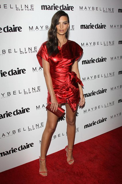 Emily Ratajkowski attends Marie Claire's Fresh Faces event at Doheny Room on April 21, 2017 in West Hollywood, California. (Photo by Splash News and Pictures)