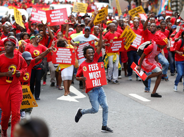 Union members take part in a May Day Rally organised by the newly-formed South African Federation of Trade Unions (SAFTU) in Durban, South Africa on May 1, 2017. (Photo by Rogan Ward/Reuters)