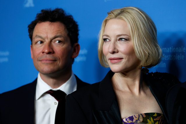 """Dominic West and Cate Blanchett arrive for the """"Stateless"""" premiere during the 70th Berlinale International Film Festival Berlin at Zoo Palast on February 26, 2020 in Berlin, Germany. (Photo by Franziska Krug/Getty Images for AUDI AG)"""