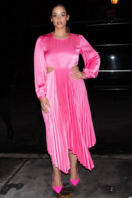 Dascha Polanco Sighting in NYC Downtown Manhattan, NY on March 11, 2020. (Photo by Janet Mayer/Startraksphoto.com)