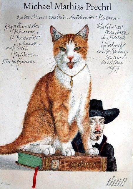 Kater Murrs Galerie berühmter Katzen (Murr's gallery of famous cats). Artwork by Michael Mathias Prechtl
