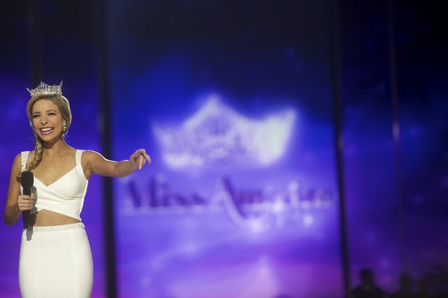Miss America 2015 Kira Kazantsev is introduced during the Miss America Pageant at Boardwalk Hall in Atlantic City, New Jersey, September 13, 2015. (Photo by Mark Makela/Reuters)