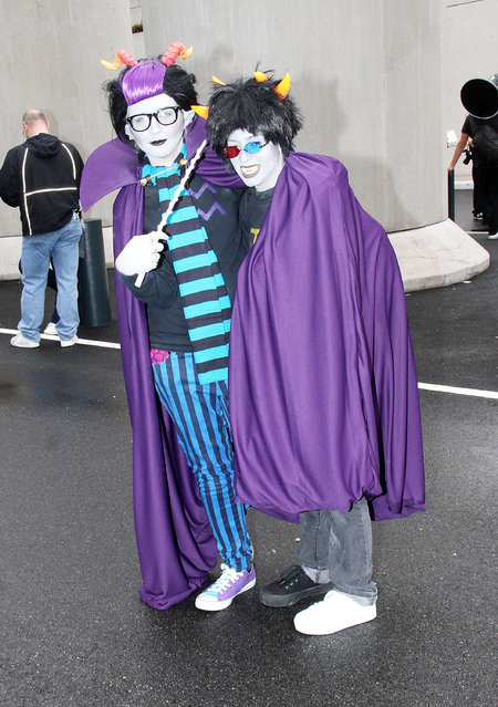 General Atmosphere at 2014 New York Comic Con – Day 3 at Jacob Javitz Center on October 11, 2014 in New York City. (Photo by Laura Cavanaugh/Getty Images)