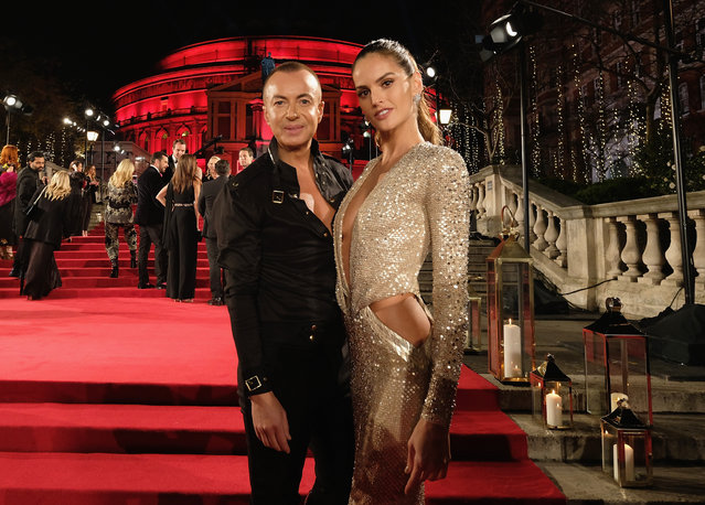 Fashion designer Julien Macdonald and Brazilian model Izabel Goulart attend The Fashion Awards 2017 in partnership with Swarovski at Royal Albert Hall on December 4, 2017 in London, England. (Photo by Mike Marsland/Getty Images for BFC)
