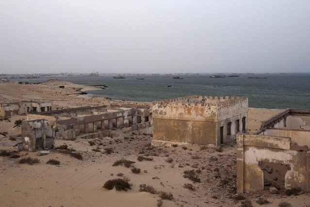 An abandoned colonial military base is seen next to the port of Nouadhibou June 25, 2014. (Photo by Joe Penney/Reuters)