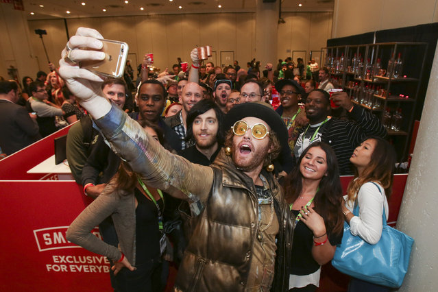 T.J. Miller and Thomas Middleditch are seen at New York Comic Con Celebrating SMIRNOFF's Exclusively for Everybody Campaign, on Thursday, October 8, 2015 in New York, NY. (Photo by Adam Hunger/AP Images for Smirnoff)