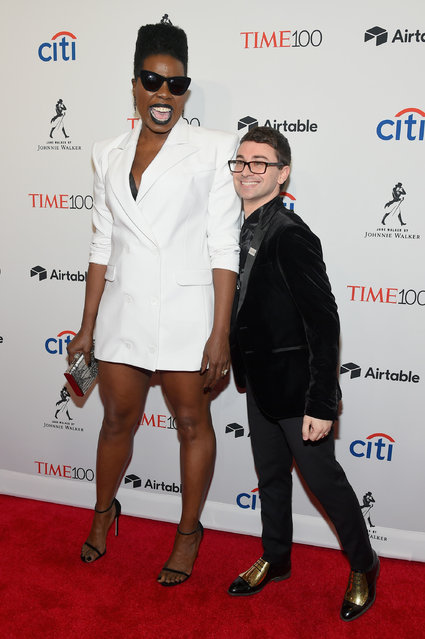 Comedian Leslie Jones and fashion designer Christian Siriano attend the 2018 Time 100 Gala at Jazz at Lincoln Center on April 24, 2018 in New York City. (Photo by Ben Gabbe/Getty Images for Time)