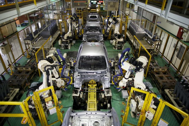 Hyundai Motor's sedans are assembled at its plant in Asan, South Korea, January 27, 2016. (Photo by Kim Hong-Ji/Reuters)