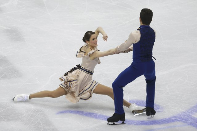 Charlene Guignard and Marco Fabbri of Italy perform during the ice dance short dance program at the ISU European Figure Skating Championship in Bratislava, Slovakia, January 28, 2016. (Photo by David W. Cerny/Reuters)