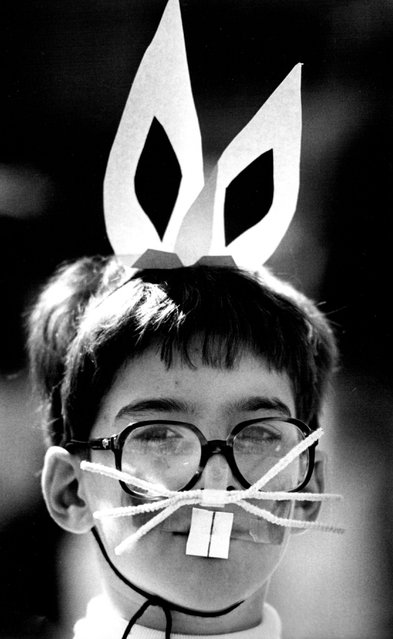 March 1964 Andrew Lucas, 8, stayed in full bunny costume for the whole show. 15 boy with whiskers  Andrew Lucas, who is 8 April 13, wore full costume for the bunny hop. (Photo by AP Photo)