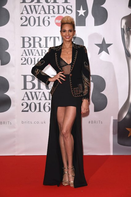 English singer Alesha Dixon attends the BRIT Awards 2016 at The O2 Arena on February 24, 2016 in London, England. (Photo by Xposure)