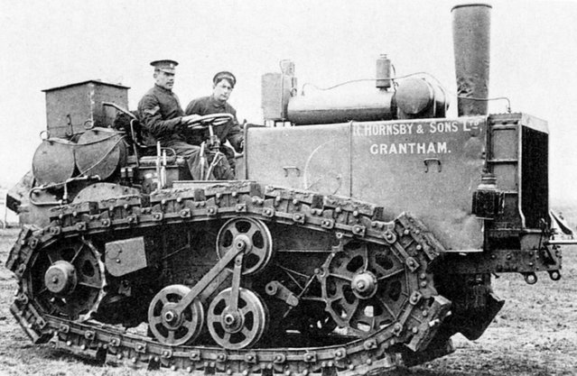Pre-WW1 the British company Hornsby developed a caterpillar artillery tractor, which helped inspire the creation of tanks. (Photo by Anthony Tucker-Jones/Mediadrumworld.com)