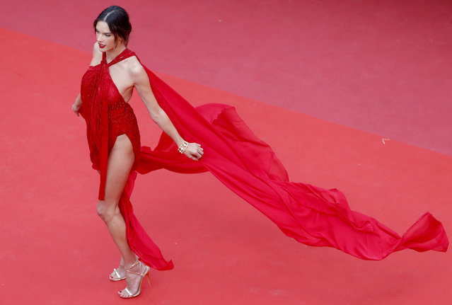 """Alessandra Ambrosio attends the screening of """"Les Miserables"""" during the 72nd annual Cannes Film Festival on May 15, 2019 in Cannes, France. (Photo by Pool/Getty Images)"""