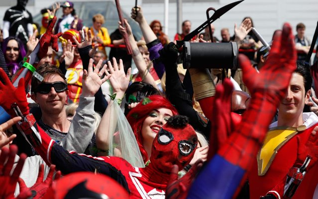 Cosplayers attend the MCM Comic Con at ExCeL exhibition centre in London on May 25, 2019. (Photo by Adrian Dennis/AFP Photo)