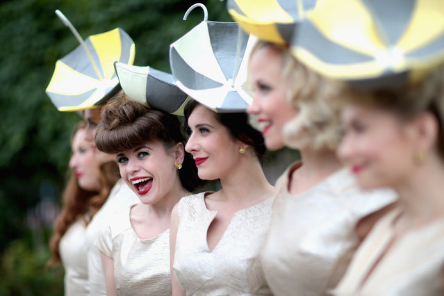 ASCOT, ENGLAND - JUNE 17:  The Tootsie Rollers pose for a photograph on day 2 of Royal Ascot at Ascot Racecourse on June 17, 2015 in Ascot, England.  (Photo by Chris Jackson/Getty Images)