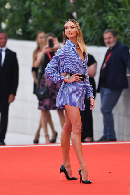 "Candice Swanepoel walks the red carpet ahead of the ""Marriage Story"" screening during during the 76th Venice Film Festival at Sala Grande on August 29, 2019 in Venice, Italy. (Photo by Jacopo Raule/Getty Images)"