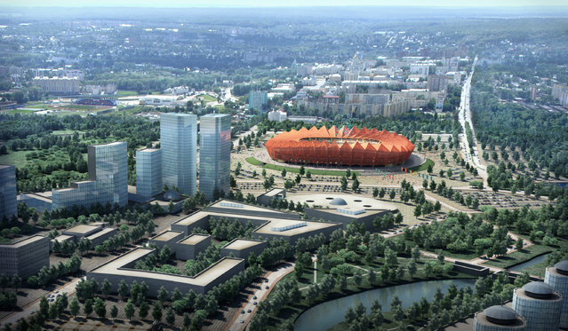 In this handout artists impression provided by the Russia 2018 Organising Commitee, the Saransk Stadium is shown as proposed and presented as part of the Russia 2018 World Cup bid, on September 29, 2011 in Russia. (Illustration by Russia 2018 via Getty Images)