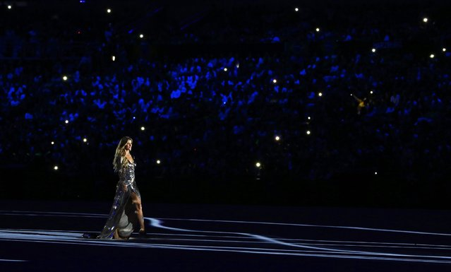 Brazilian model Gisele Bundchen attends the Opening Ceremony of the Rio 2016 Olympic Games at the Maracana Stadium in Rio de Janeiro, Brazil, 05 August 2016. (Photo by Sergey Ilnitsky/EPA)