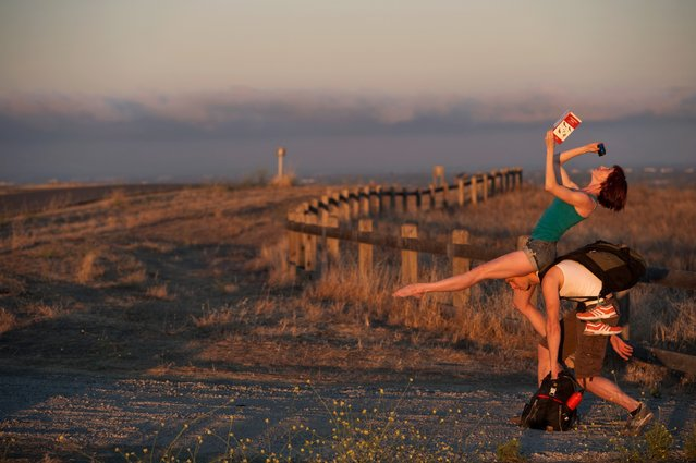 """""""Dancers Among Us"""": Stanford University, CA – Ryan Smith and Wendy Rein. (Photo by Jordan Matter)"""