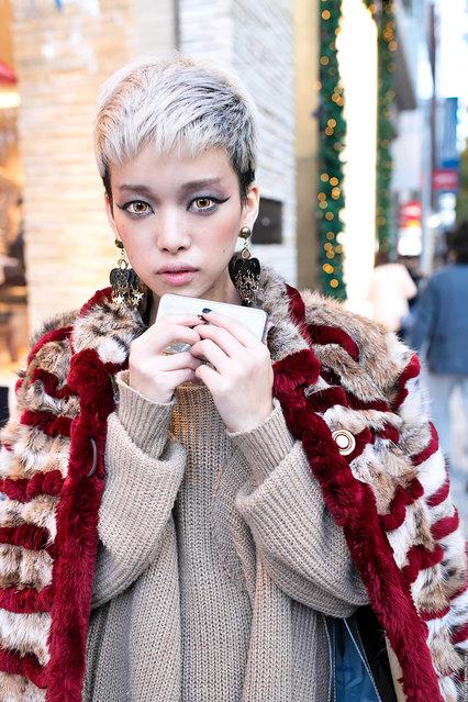 Hirari Ikeda, a well-known Harajuku street fashion personality, on the street in Shibuya. (Tokyo Fashion)