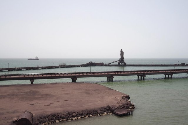 The SNIM port is seen in Nouadhibou June 25, 2014. (Photo by Joe Penney/Reuters)