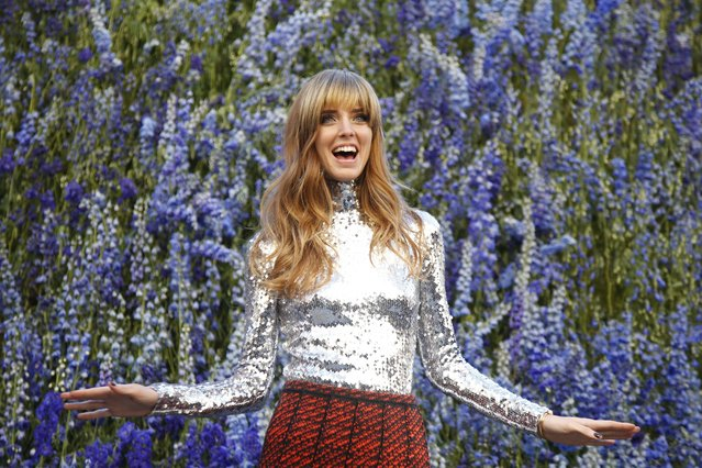 Italian blogger Chiara Ferragni poses before attending the Spring/Summer 2016 women's ready-to-wear collection show for Dior fashion house during the Fashion Week in Paris, France, October 2, 2015. (Photo by Charles Platiau/Reuters)