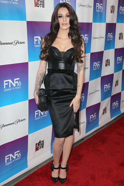 """Cher Lloyd arrives at the 16th Annual """"Friends And Family"""" pre-GRAMMY event held at Paramount Studios on February 8, 2013 in Hollywood, California. (Photo by Michael Tran/FilmMagic)"""