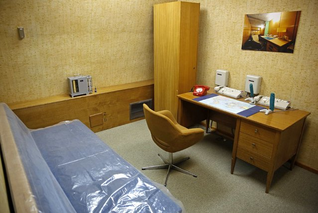 The office of Josip Broz Tito's Secretary is seen in Tito's underground secret bunker (ARK) in Konjic, October 16, 2014. (Photo by Dado Ruvic/Reuters)