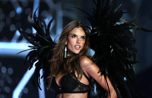 Alessandra Ambrosio walks the runway at the annual Victoria's Secret fashion show at Earls Court on December 2, 2014 in London, England. (Photo by Tim P. Whitby/Getty Images)