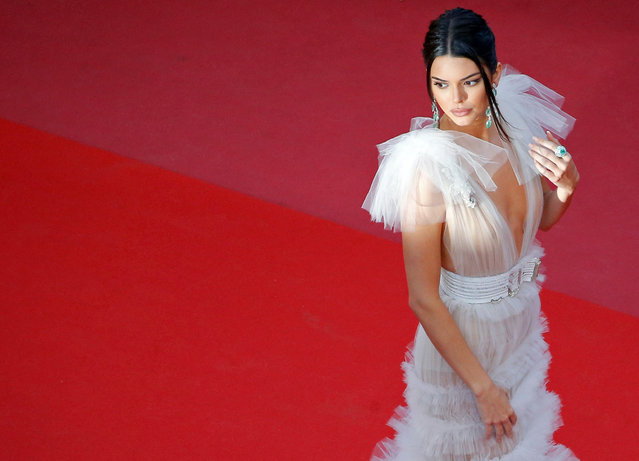 """Kendall Jenner attends the screening of """"Girls Of The Sun (Les Filles Du Soleil)"""" during the 71st annual Cannes Film Festival at Palais des Festivals on May 12, 2018 in Cannes, France. (Photo by Stephane Mahe/Reuters)"""
