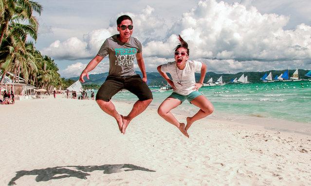 """""""Jump! Boracay"""". (Photo by Mark Marcelino)"""