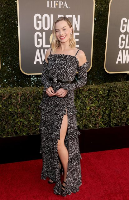 Pictured in this image released on February 28, Australian actress Margot Robbie attends the 78th Annual Golden Globe Awards held at The Beverly Hilton and broadcast on February 28, 2021 in Beverly Hills, California. (Photo by Todd Williamson/NBC/NBCU Photo Bank via Getty Images)