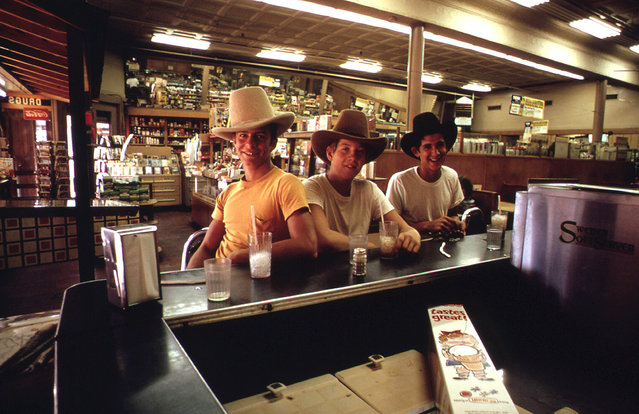 Teenagers in drugstore in Stockyards area of Fort Worth, October 1972. (Photo by Bob Smith/NARA via The Atlantic)