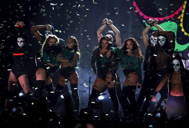 Little Mix perform at the BRIT Awards at the O2 arena in London, Britain, February 24, 2016. (Photo by Stefan Wermuth/Reuters)